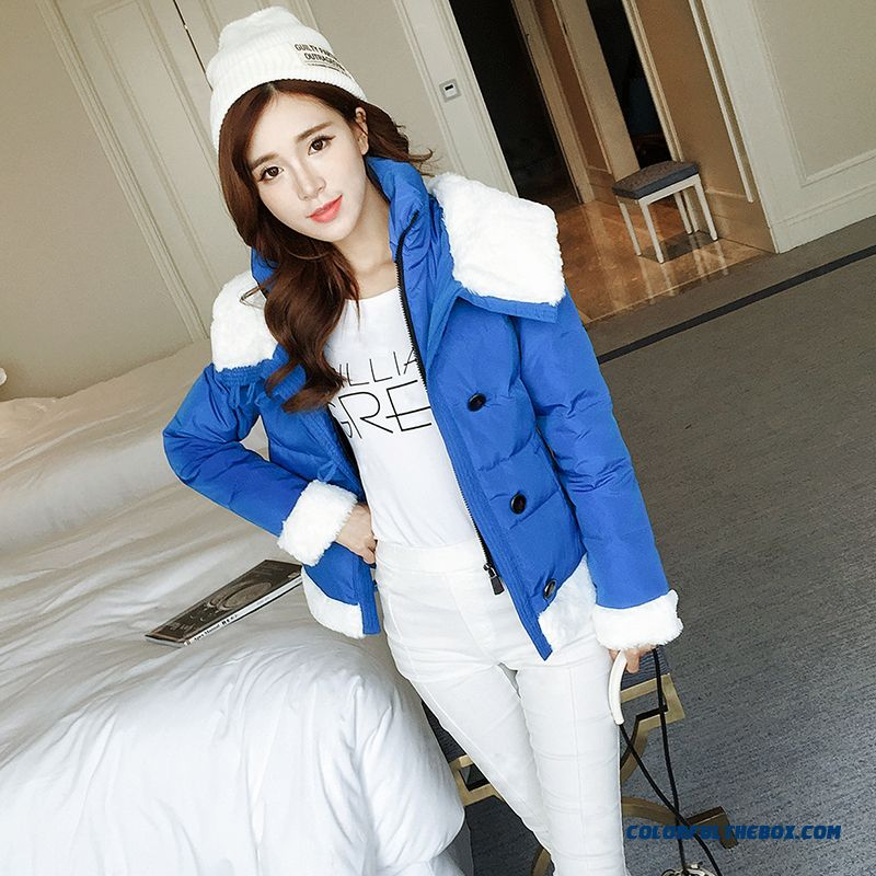 2015 Hot Selling Women Wear Coats Thicken Short White Student Cotton-padded Clothes