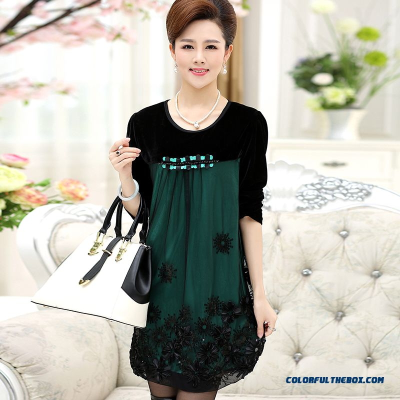 Cheap 40 50 Year Old Middle Aged Women Dress Spring Dress New Dress