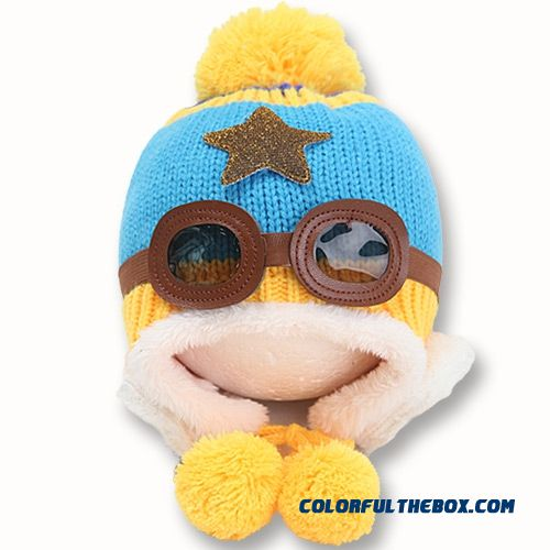 Adorkable Lovely Aviator Glasses Wool Hat Fall Winter Infants Kids Hats  Accessories For Girls ... b97cf87427fb