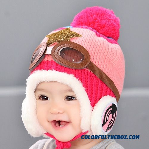 ... Adorkable Lovely Aviator Glasses Wool Hat Fall Winter Infants Kids Hats  Accessories For Girls ... 791cf580c7ef