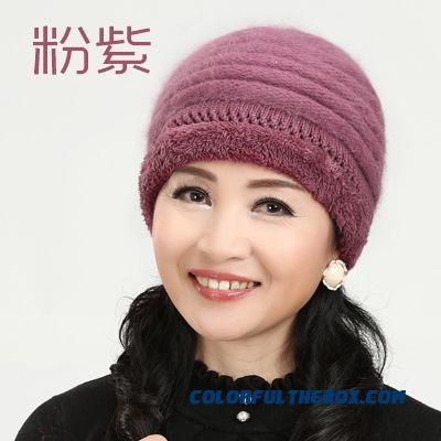 ... Angora Wool Knitted Cap Elderly The Elderly Hat 5 Kinds Of Color Hat  Women s Accessories ... f905fd0e0e7c