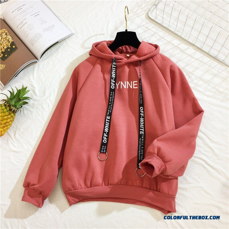 Arfreeker Casual Hoodies Women Brand Long Sleeve Thick Warm Hooded Black Sweatshirt Hoodie Coat Casual Sportswear Pullovers