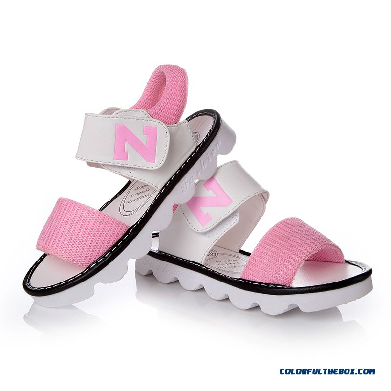 Authentic Korean Style N Word Student Shoes Baby Boys Soft Outsole Princess Girls Sandals