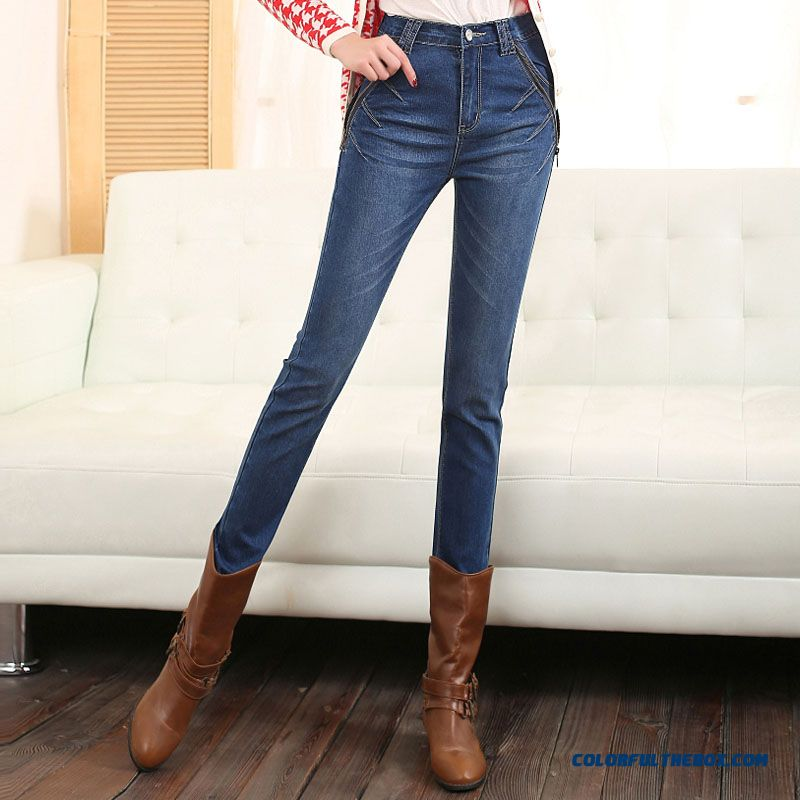 Cheap Autumn And Winter Large Size Jeans Pants Waist ...