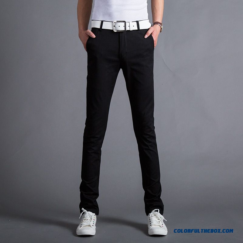 Autumn And Winter Men's Casual Cotton Slim Straight Thick Long Plus Velevt Pants