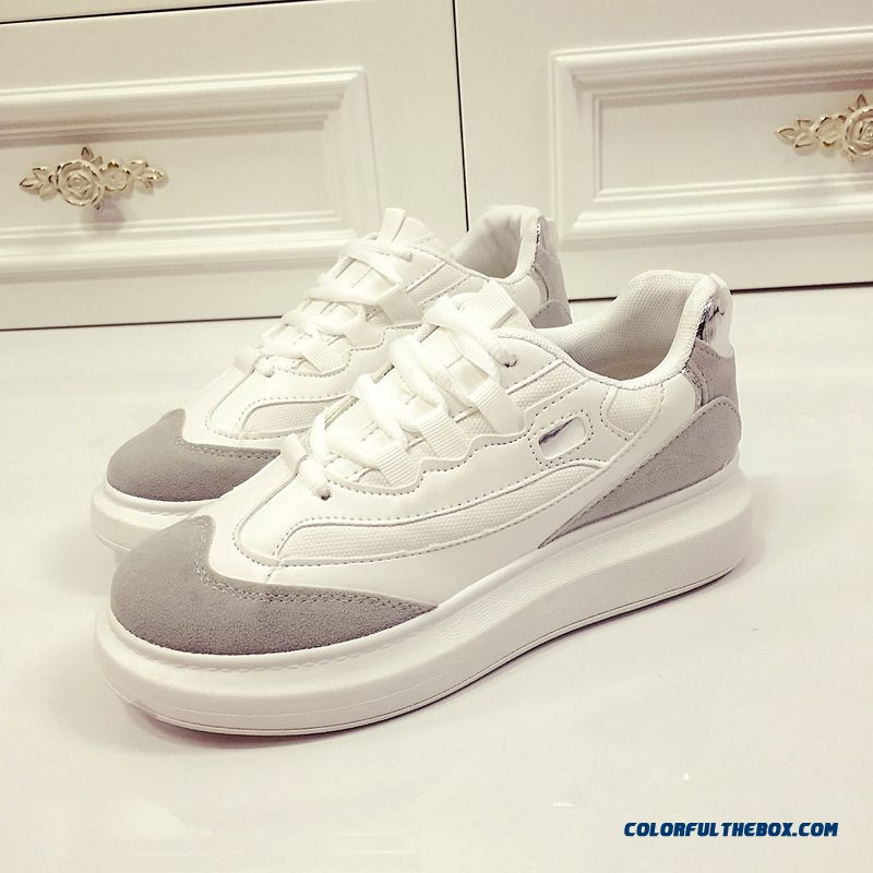 cheap autumn new s running casual shoes white tide