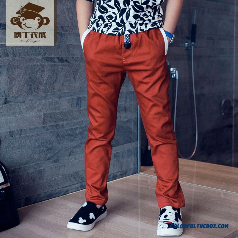 Autumn Sports Long Pants Thin Solid Color Designed Specifically For Boys Kids