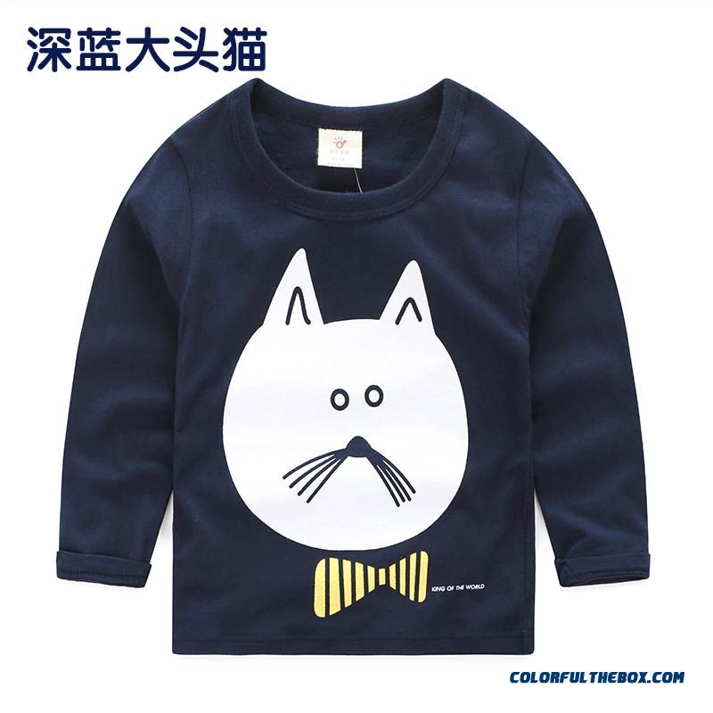Baby Boys And Girls Kids Long-sleeved Comfortable T-shirt Bottoming Cheap Wholesale