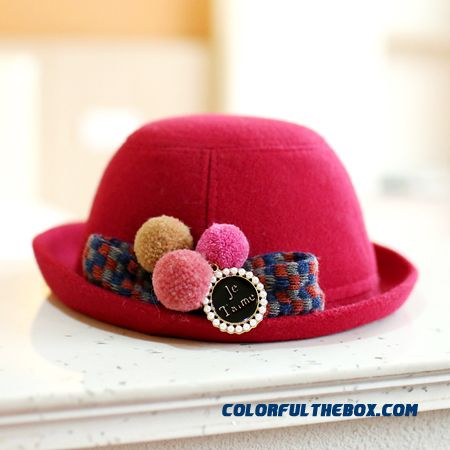 Baby Fisherman Hat Boys And Girls Woolen Top Hat Parent-child Kids Design Boutique High-quality