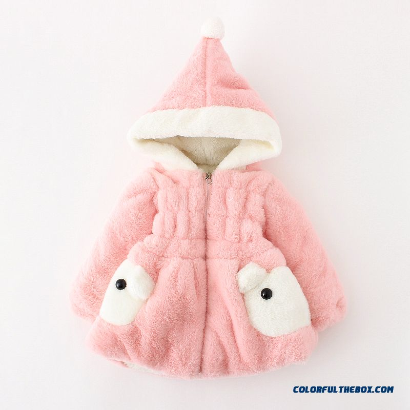Cheap Baby Girls Fall And Winter Clothing Thick Coat Cardigan