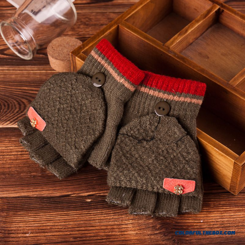 Cheap Big Boys Accessories Half Finger Writing Knitted