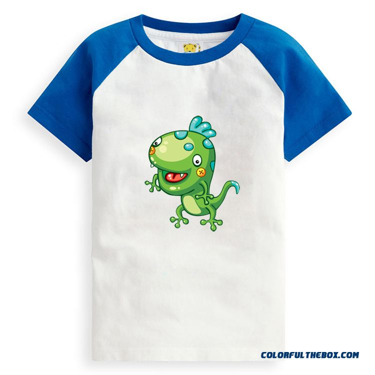 Boys And Girls T-shirt Cotton Close-fitting Kids Clothing Absorbent Breathable Summer Clothing