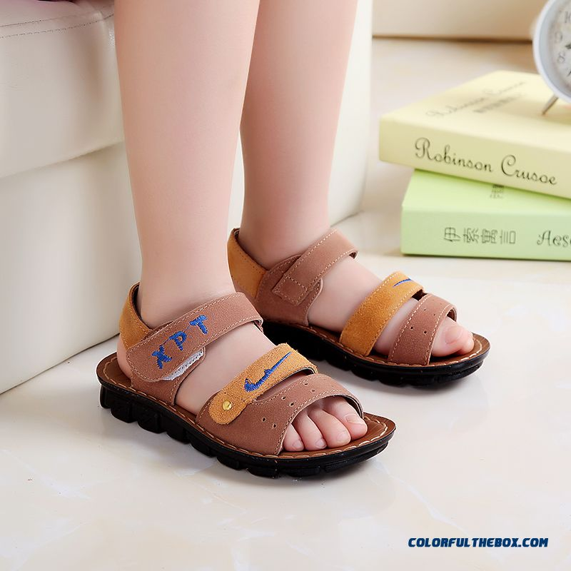 Cheap Boys Sandals New Leather Specials Baby Sandals Brown