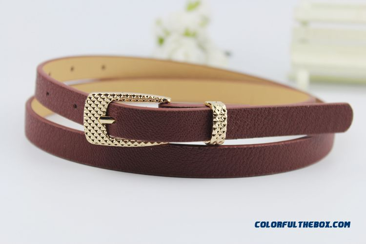 Candy Color Thin Leather Belt Belt Korean Fashion New Free Shipping Foe Women