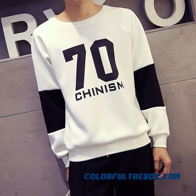 Casual Pullover Round Neck Sweatshirts Loose Large Size Men Sweatshirts