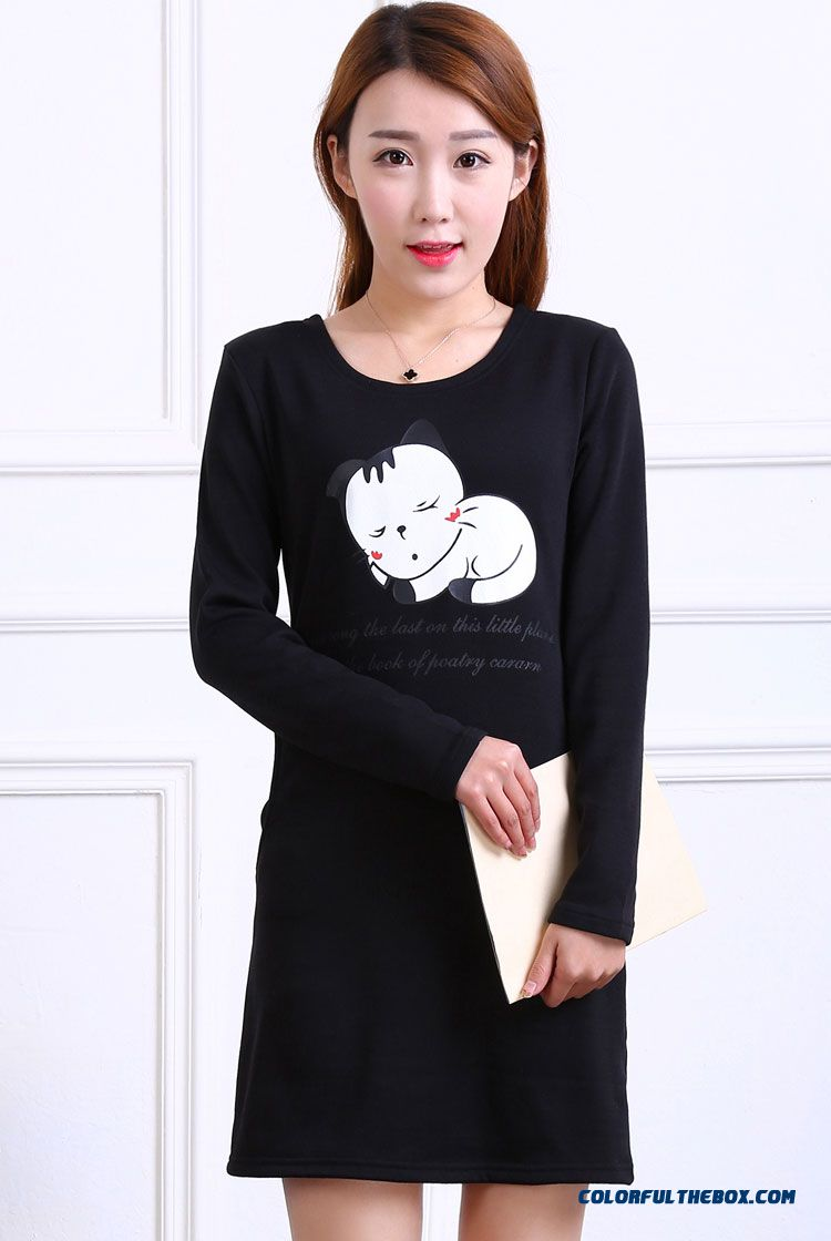 Cheap chic plus thick velvet long sleeved t shirt for Thick long sleeve shirts