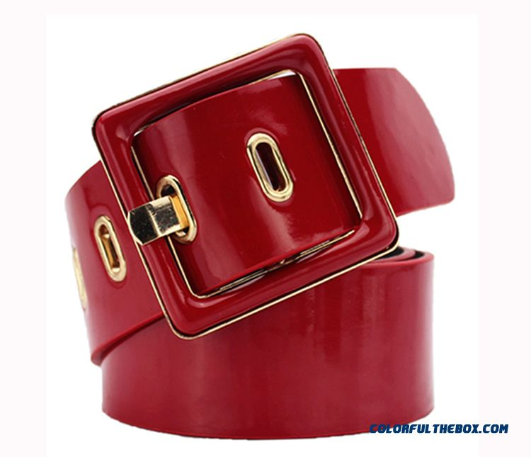China Custom Design Women All-match Dress Belt European And American Fashion Ornamental Patent Leather Belt Free Shipping