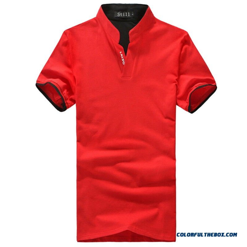 Classic Solid Color Men Lapel Polo Shirt Short Sleeve Tee Tops T-shirt M-3xl New