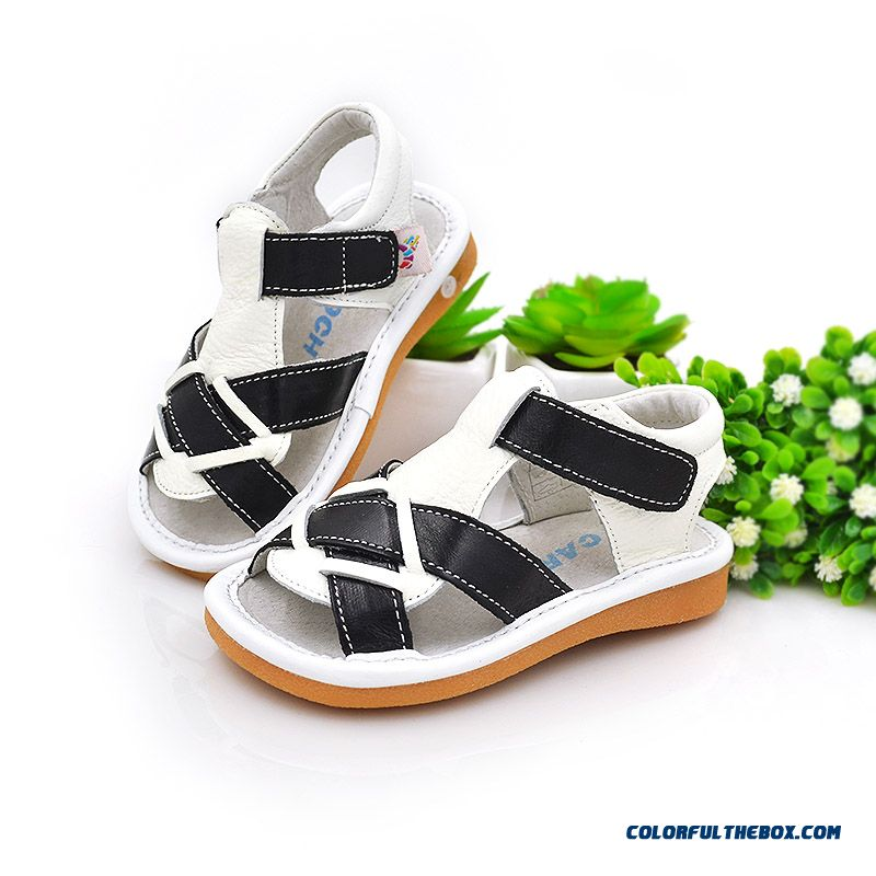 Clearance Cowhide Sandals Men And Women Anti-slip Soft Baby Kids Good Quality Comforable Shoes
