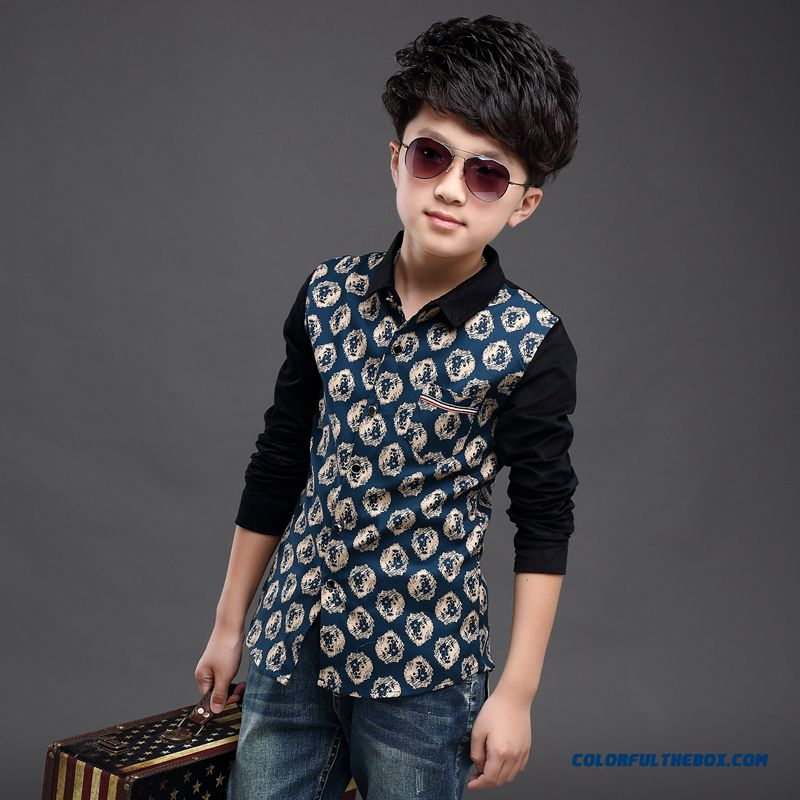 Clothing Designed Exclusively Boys Long-sleeved Shirt Children Spring 2016 Korean Style Blouses