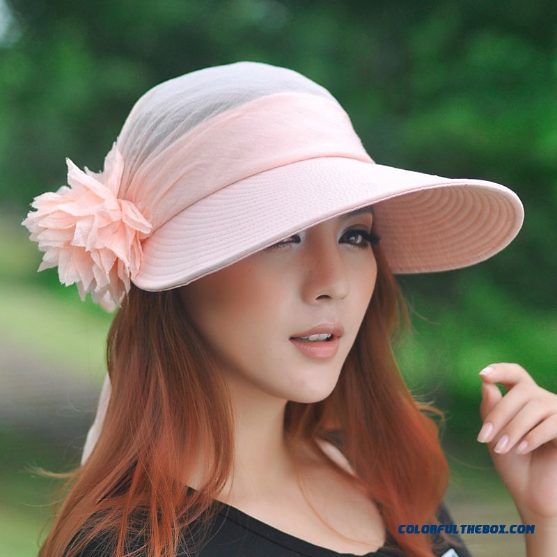 ... Cool Summer Uv Protection Empty Top Hat Lady Women Sunshade Hat  Outdoors Cycling Sunscreen Sun Hat ... fecf0fabcf