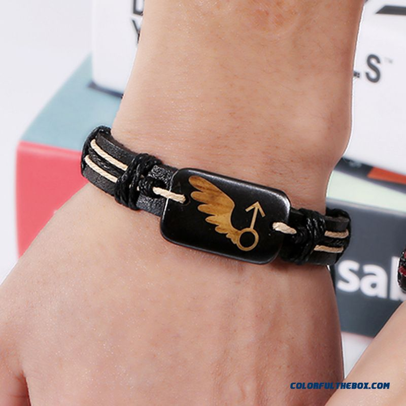 Couples Jewelry Lovers Bone Leather Bracelet Valentines Braid Bracelet Women