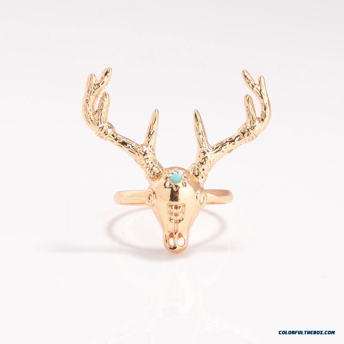 Ethnic Style Metal Heavy Industry Exaggeration Deer Head Ring Jewelry Free Shipping For Women