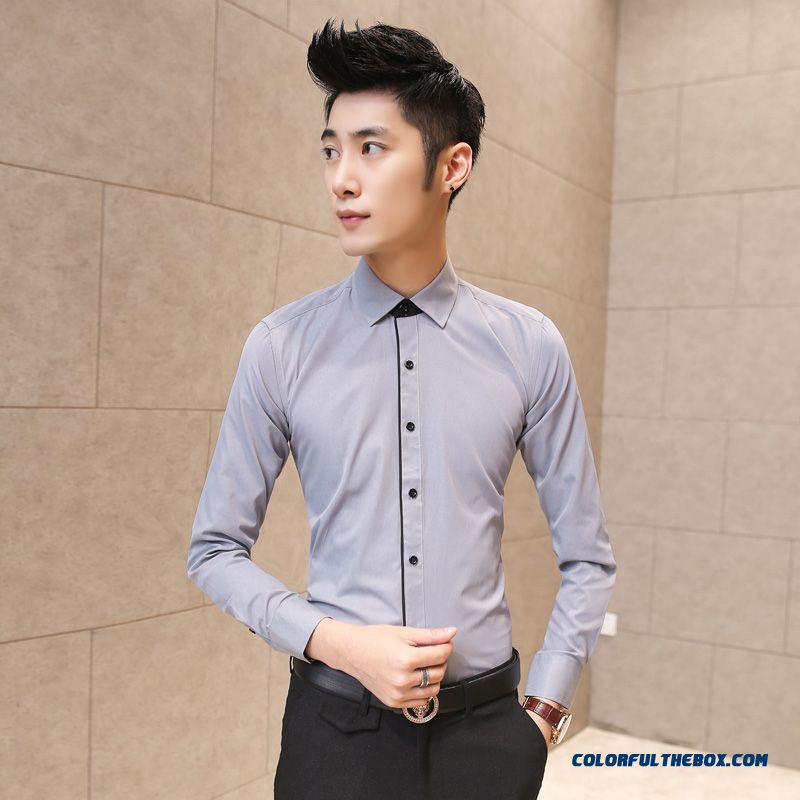 Cheap Fall And Winter Clothes New Men S Business Casual Cotton Shirt