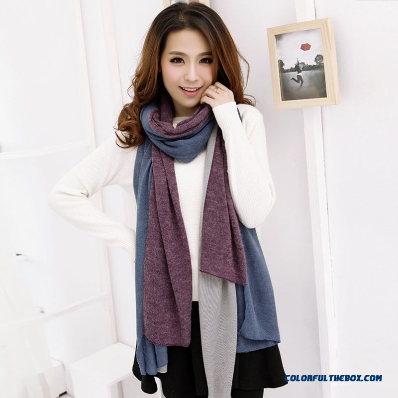 Fall And Winter Super Long Style Thick Plaid Shawl Women Dual-purpose About The Neck About The Neck