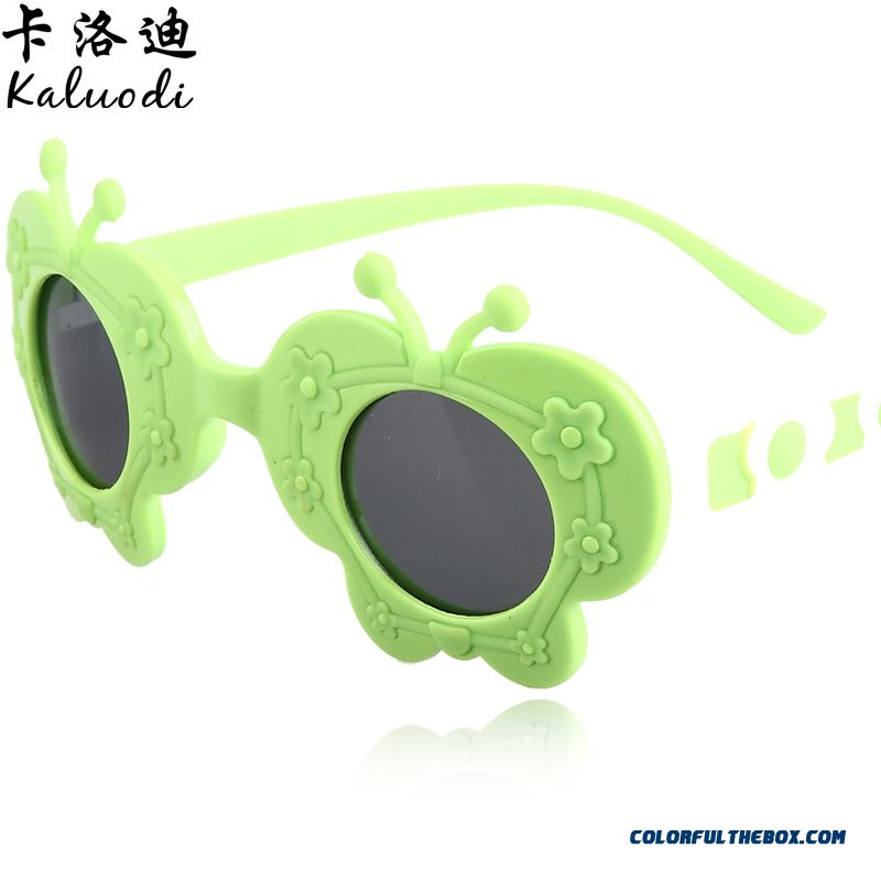 2ca34f0d9d ... Fashion Butterfly Flower Sunglasses Boys And Girls Children s  Sunglasses Polarized Dark Glasses ...