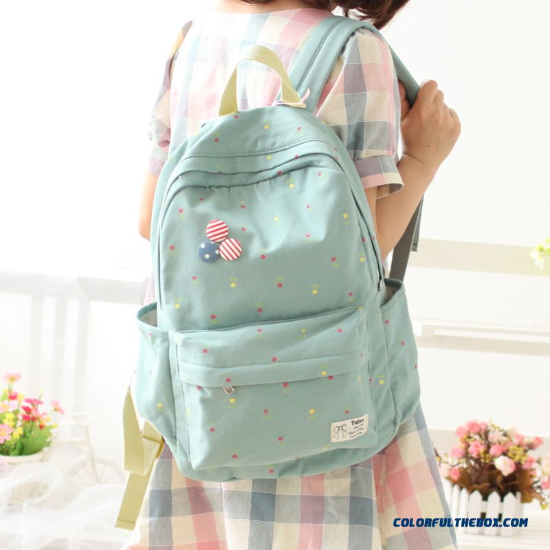 Cheap Fashion Canvas Backpack Girl Junior High School Students ...