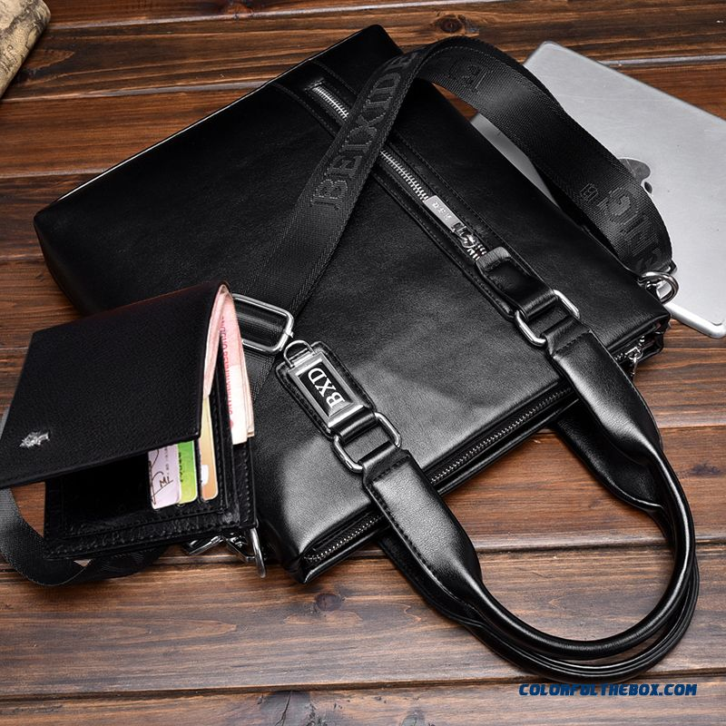 Fashion Design Two Style Of Men Horizontal And Vertical Briefcase Incidental Small Wallet