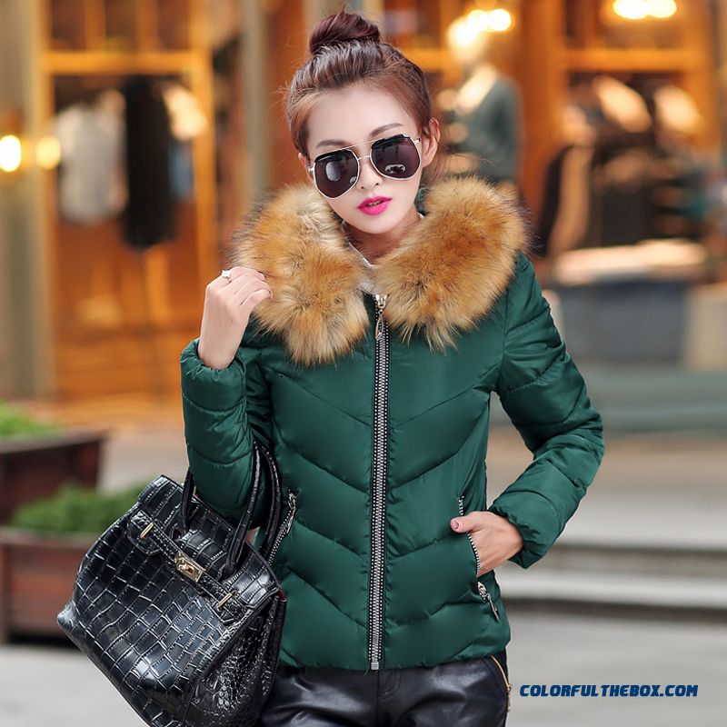 Fashion Female Coats Ovo Collar Large Short Blue Green Promotion Sexy