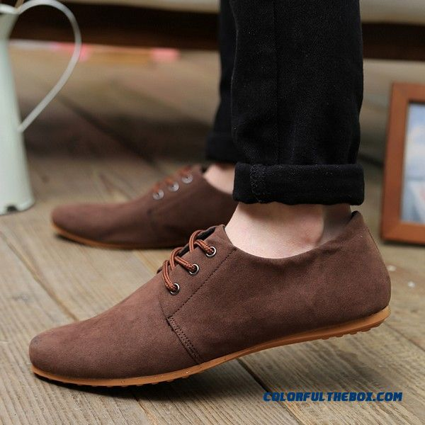 ffbaf9d714f ... Fashion Men Leather Shoes Suede Soft Leather Driving Shoes Casual  Lace-up Men Shoes Moccasin
