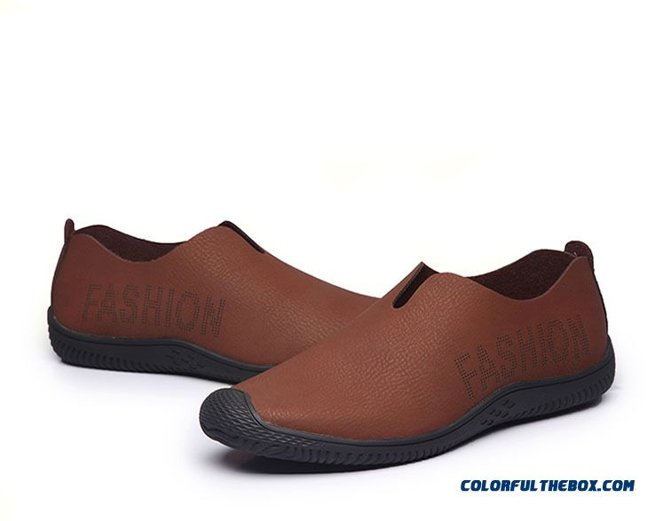 Cheap Genuine Leather Shoes Men Flat Shoes Soft And