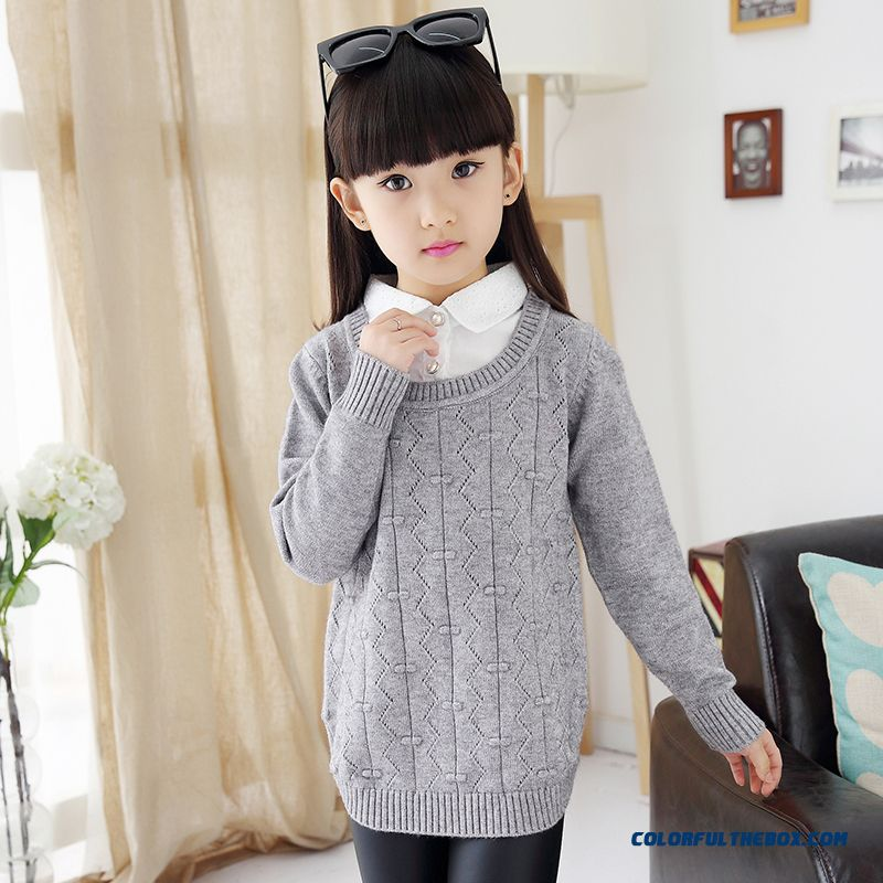 Cheap Girls False Two-piece Long Sweater Bottoming Shirt Ladies ...