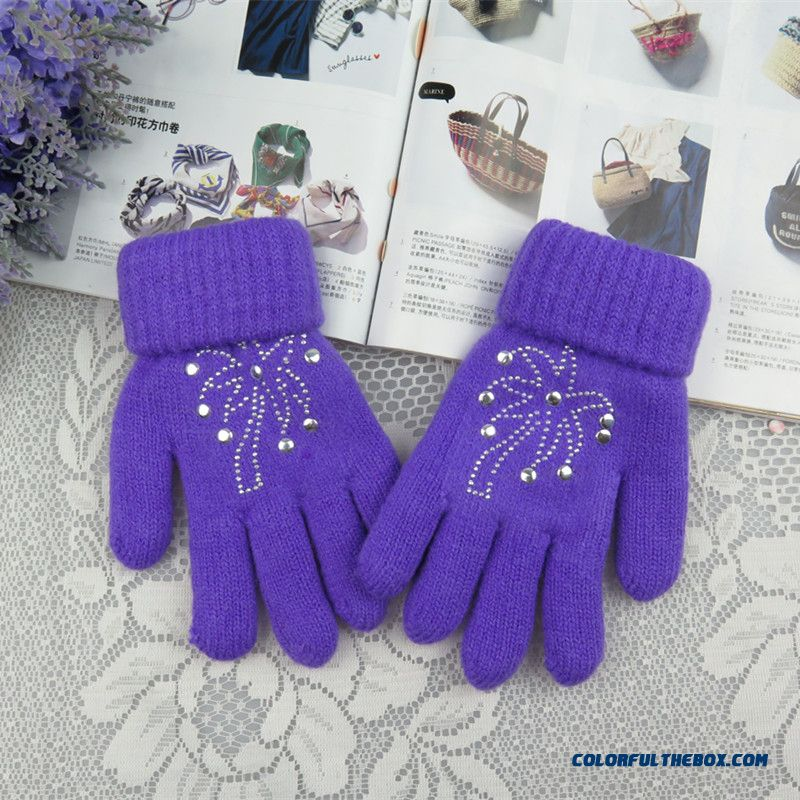 Cheap Girls Kids Five Fingers Gloves Winter Models Plus ...
