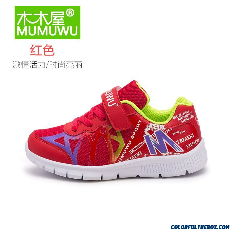 Girls Kids Shoes Breathable Mesh Casual Shoes Red Blue Pink Running Shoes Free Shipping