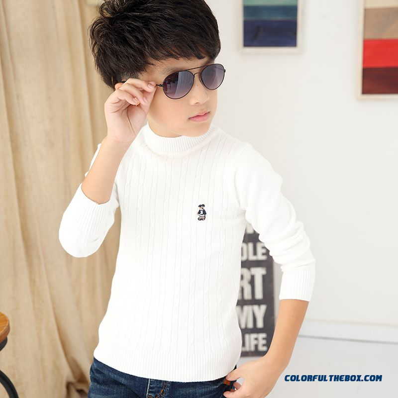 Cheap High Collar Pullover Thick Round Neck Sweaters ...