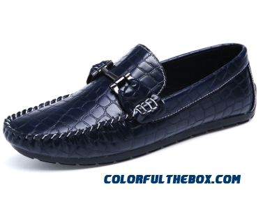 cheap hot sale men casual leather loafers breathable