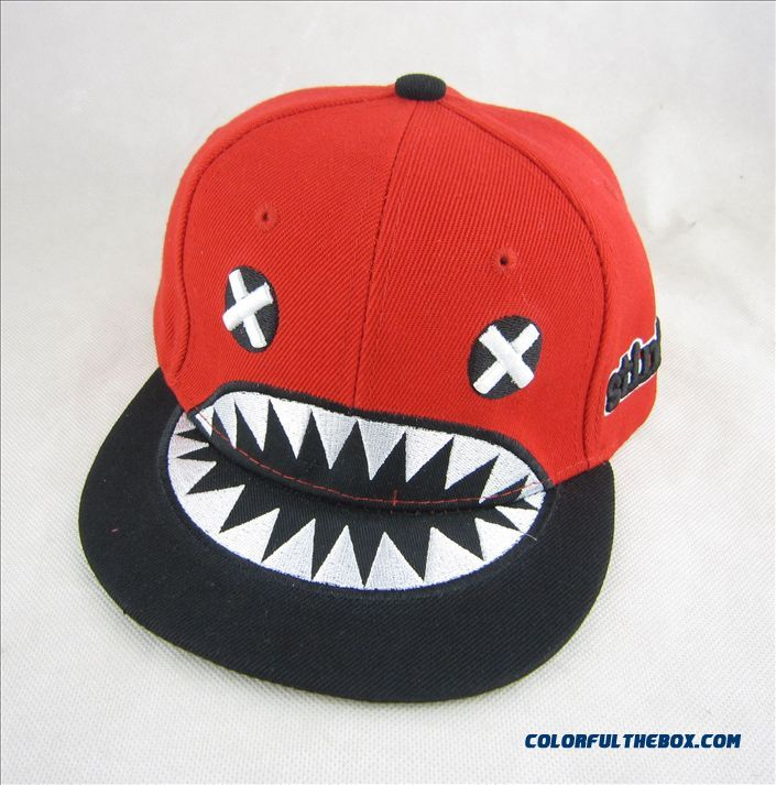 8eed2154ec2 Kids Cartoon Character Lovely Shark Mouth Flat-brimmed Hat Boys Hip Hop  Baseball Cap Accessories ...