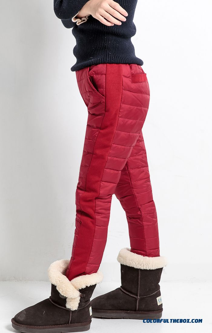 Korean Style Children Kids Keep Warm Down Pants Girls Wears Outside Pants