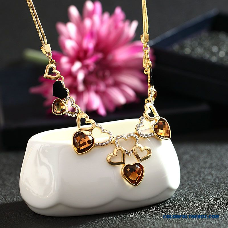 Cheap Korean Style High End European And American Jewelry Crystal Necklace Exaggerated Women 39 S