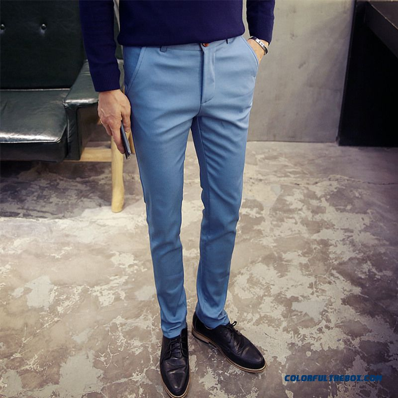 Korean Version Of Men's Casual Cotton Slim Straight New Winter Clothing Pants
