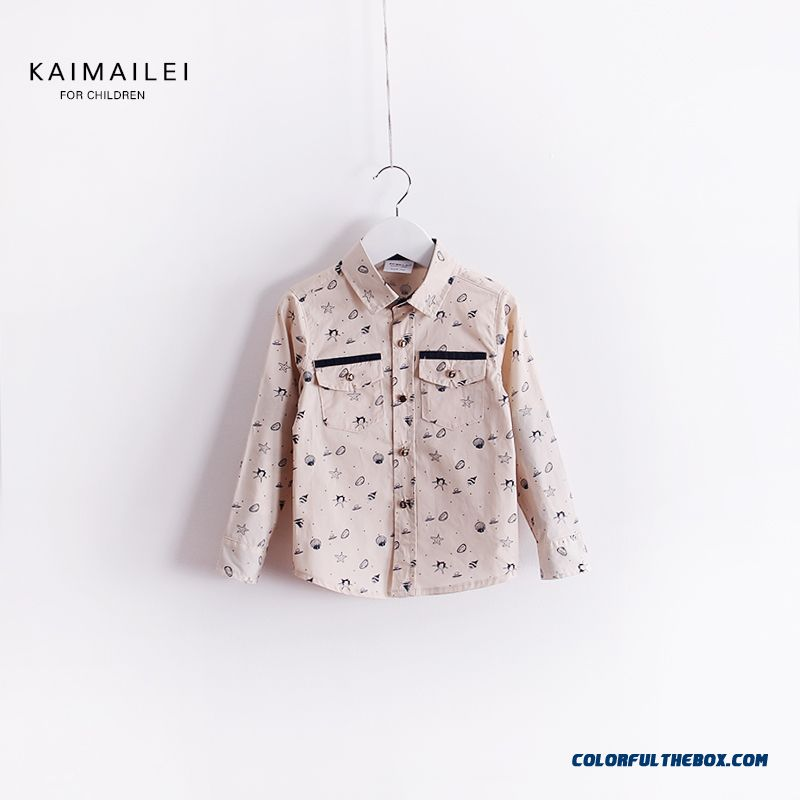 Korean Version Of The 2016 Spring New Shirt Temperament Kids'clothing