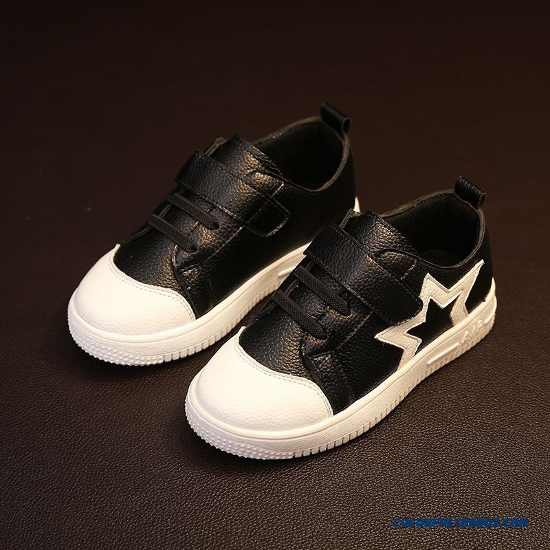 Leather Running Shoes Korean Casual Five-pointed Star Children's Shoes For Girls