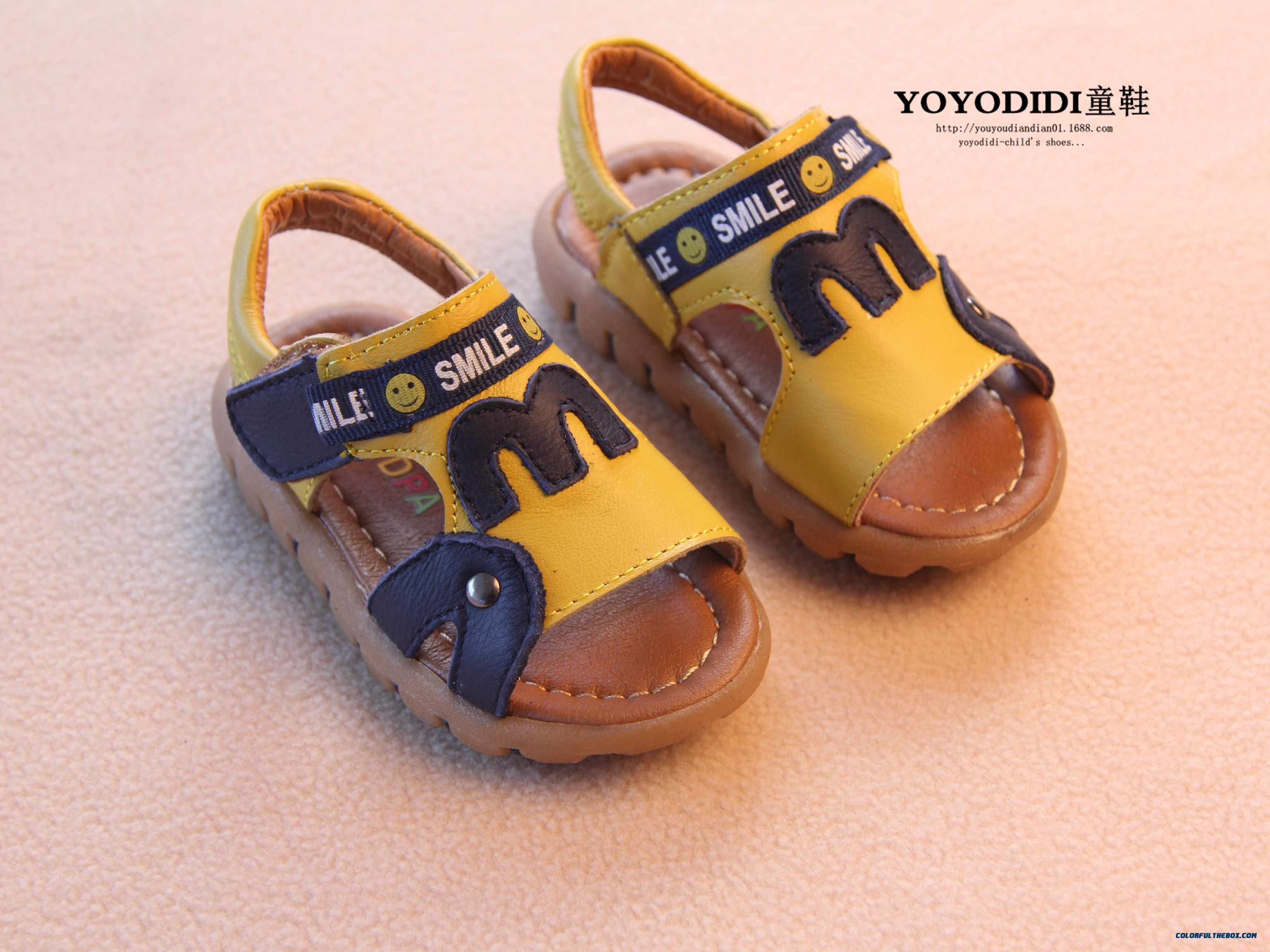 Leather Soft Outsole Baby Boys Open Toe Leather Kids Child Sandals