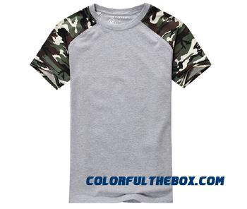 Man Casual Camouflage T-shirt Men Cotton Army Tactical Combat T Shirt Military Sport Camo Camp Mens T Shirts Fashion 2016 Tees