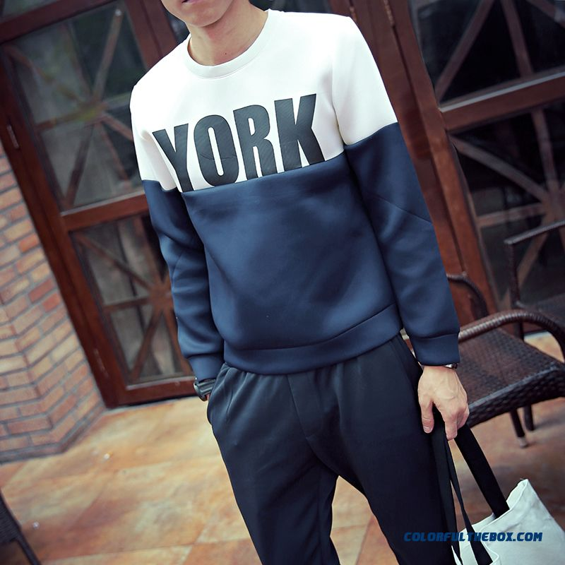 Men's Clothing Baseball Uniform Printing Pullover Round Neck Sweatshirts