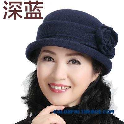 Cheap Middle Aged Ladies Hat Wool Hat Grandma Mom Cap